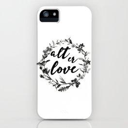 alt er love floreal iPhone Case