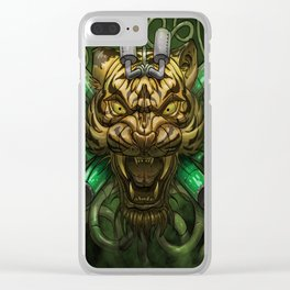 Acid Tiger Clear iPhone Case