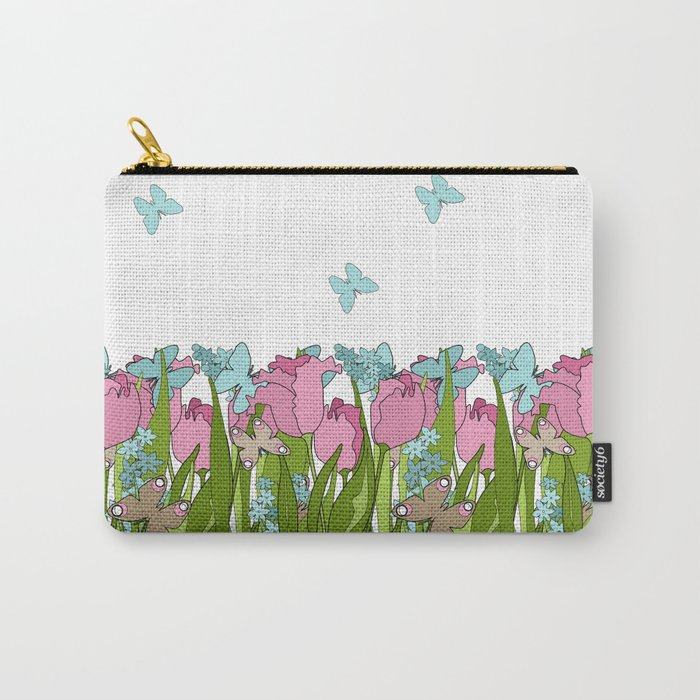 Pink tulips . Spring. Carry-All Pouch
