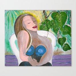 """""""Gretchen In Repose"""" Canvas Print"""