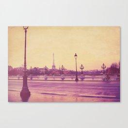 Paris, Glad to See You Again. Canvas Print