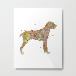 Cesky Fousek Dog Watercolor Painting Metal Print