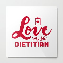 Dietitian, school dietitian nutritionist Metal Print