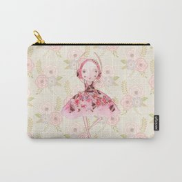 Isabella Bellarina Dancing on Flowers Carry-All Pouch