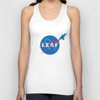 leaf Tank Tops featuring LEAF by geekchic