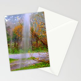Rain in the autumnal colour Stationery Cards