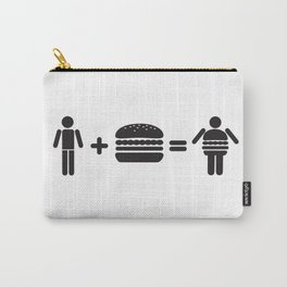 Hamburger Man Carry-All Pouch