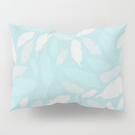 Feather Pattern Mint Pillow Sham