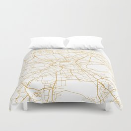 EDINBURGH SCOTLAND CITY STREET MAP ART Duvet Cover