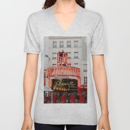 Dancing club in Paris, France | Vintage iconic place with red lights | Wanderlust photography, fine art  Unisex V-Neck