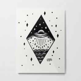 UFO from the sea.  Metal Print