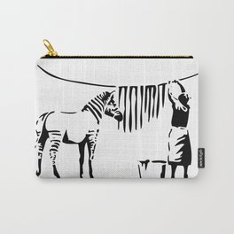 Banksy, A Woman Washing Zebra Stripes Artwork Reproduction, Posters, Tshirts, Prints Carry-All Pouch