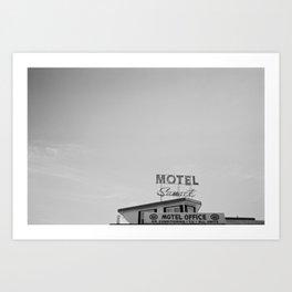 Sunset Motel Art Print