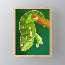Chameleon Framed Mini Art Print
