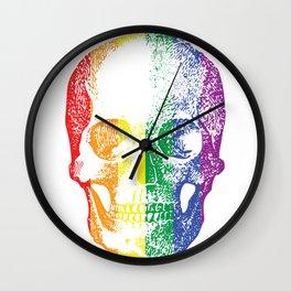 Rainbow Skull Wall Clock
