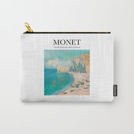 Monet - The Beach and the Falaise d'Amont Carry-All Pouch