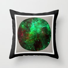 Captured Space - Abstract, geometric, outer space themed art Throw Pillow