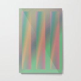 technicolor halftone gradient Metal Print