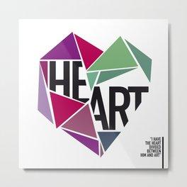 BROKEN HEART Metal Print