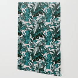 Tropical Jungle Leaves Pattern #3 #tropical #decor #art #society6 Wallpaper