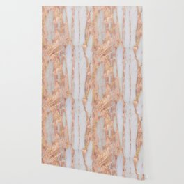 Aprillia - rose gold marble with gold flecks Wallpaper