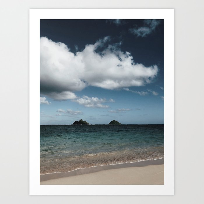 Lanikai Beach Art Print
