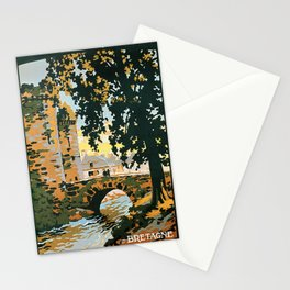 Bretagne et Normandie, French Travel Poster Stationery Cards