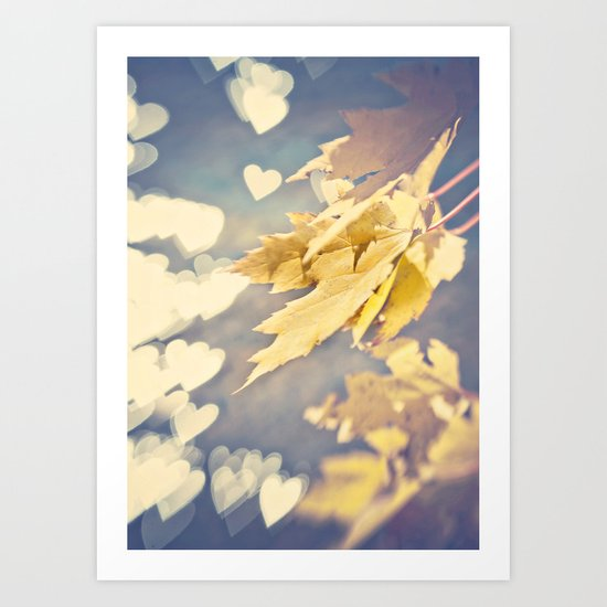 I Heart Autumn Art Print
