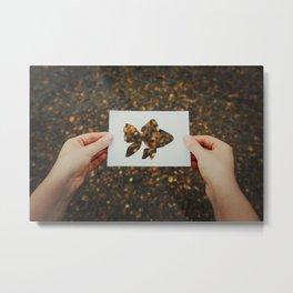 holding golden fish Metal Print