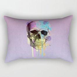 skull in purple Rectangular Pillow