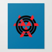 chvrches Canvas Prints featuring CHVRCHES Blue by Justified