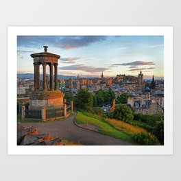 Calton Hill, Edinburgh, Scotland 1 Art Print