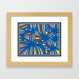 Pinzon Abstract Expression Yellow Red Blue Framed Art Print