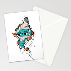 Muscle cat Stationery Cards