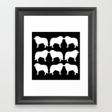 Great Pyrenees: PLURAL Framed Art Print