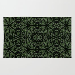 Forest Green Etch Rug