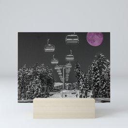 Chairlift to the Fuchsia Moon Mini Art Print