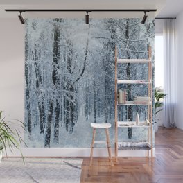 Winter wonderland scenery forest  Wall Mural