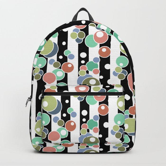 Colorful polka dots pattern Backpack