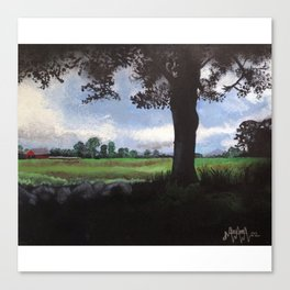 Landscape with a Silhouetted Tree Canvas Print