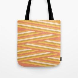 stripey sunny square Tote Bag
