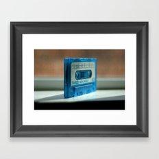 Blue Tape Framed Art Print