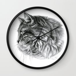 Norvegian Forest Cat Wall Clock