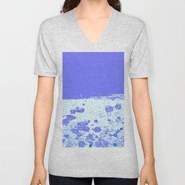 Ink Drop Blue Unisex V-Neck