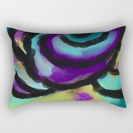 Wild Rose Abstract Digital Painting Rectangular Pillow