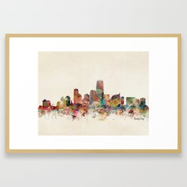 jersey city new jersey Framed Art Print