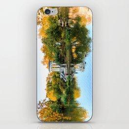 Autumn park iPhone Skin