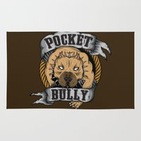 pocket Area & Throw Rugs featuring Pocket Bully by Pancho the Macho