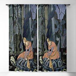"""The Black Tortoise"" by Virginia Frances Sterrett Blackout Curtain"