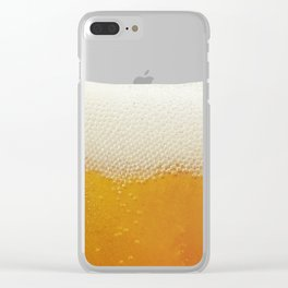 Beer Bubbles Clear iPhone Case